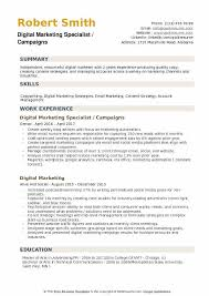 Resume Specialist Best Digital Marketing Specialist Resume Samples QwikResume
