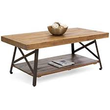 Best wood for table Coffee Table Image Unavailable Amazoncom Amazoncom Best Choice Products Living Room Acacia Rustic Wooden