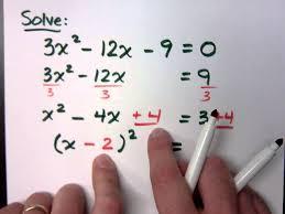 college algebra part 24 quadratic equations completing the square you