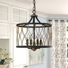 metal drum pendant light 4 lamp