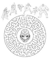 Disegni Da Colorare Avengers Team