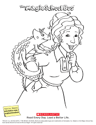 Small Picture The Magic School Bus Coloring Book Printables Scholasticcom