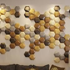 a12032 creative leather wall small tiles hexagon faux leather mosaic 1 piece