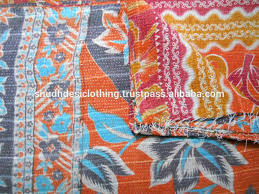 Sari Silk Pattol Patchwork Quilts Throw Vintage Kantha Quilt ... & Indian Kantha Quilts Uk Indian Sari Quilts Indian Kantha Quilts Australia  Buy Kantha In Reversible Pattern ... Adamdwight.com