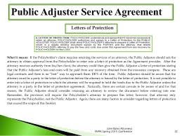 dont drop the ball on contract requirements and performance for public insurance adjusters 22 638 cb=