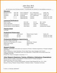 9 Cv Template For Doctors Theorynpractice