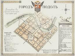 <b>План города Подольск</b>   История Москвы в картинках