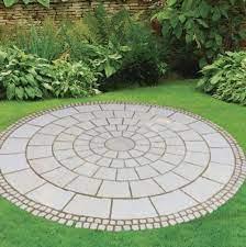 circular patio features kits and circle