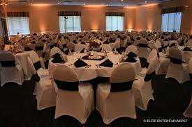 Wedding Reception Head Table Setup We Provided White Stretch