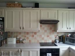 Painting Floor Tiles In Kitchen Painted Tile Backsplash Cover Those Ugly Tiles Make Do And Diy