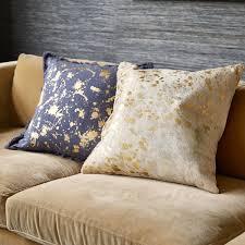 Jonathan Adler Cowhide Metallic Throw Pillow