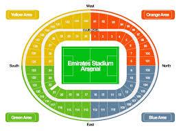 Spurs Stadium Seating Chart Emirates Stadium Stadium Map Liverpool Tickets Arsenal