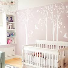 skillful ideas baby nursery wall art home pictures five huge white tree decal vinyl stickers birds on vinyl wall art boy nursery with vibrant baby nursery wall art home design ideas etsy girl boy owl