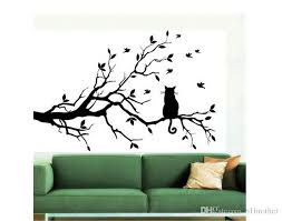 whole cat on long tree branch diy vinyl wall sticker decals wall art mural home decor window kitchen wallpaper vinyl wall decals vinyl wall decals kids