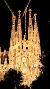 barcelona sagrada familia by night 3wallpapers iphone parallax barcelona sagrada familia by night