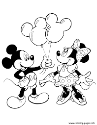 Print Mickey Giving Minnie Mouse Balloons Disney Coloring Pages