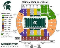 Michigan Stadium Seating Chart With Rows 2 Michigan State Vs University Of Michigan Football Tickets