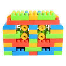 Đồ chơi xếp hình mầm non Sato 72 chi tiết - Đồ chơi xếp hình - lắp ráp - Bé  chơi và học