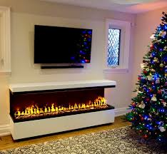 stand alone electric fireplace with water vapor technology opti myst by dimplex handmade cabinet