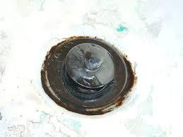 draining bathtub rusted tub drain fix bathtub drain slow leak