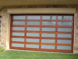 glass garage door. Glass Garage Doors \u2013 Mahogany Frames White Laminate Door