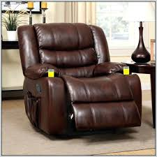 brown leather recliner chair with cup holder chairs home decorating ideas in holde