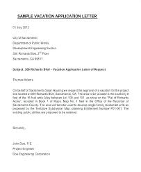 Letter Format For Vacation Leave Vacation Request Letter Fit 2 C Competent Accordingly Sample