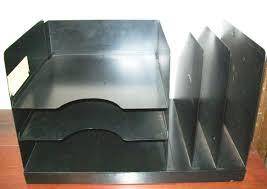 vintage black metal desktop organizer file sorter desk tray great deal