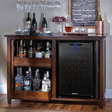 firenze mezzo wine and spirits credenza with  bottle touchscreen