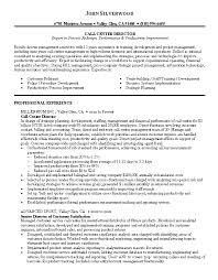 call center manager resume