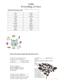 Worksheet: Everything At Once by Lenka [Alternative 2]
