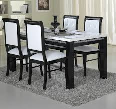 dining table glamorous round and chairs black white settings ovative room sets