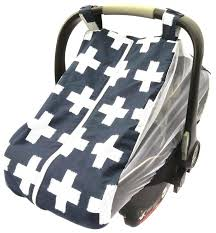 summer car seat canopy items similar to baby car seat cover infant car seat canopy summer cover summer canopy dark blue with white crosses or white and