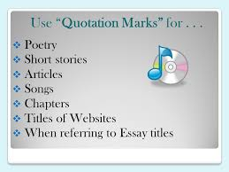 punctuating titles ppt video online  use quotation marks for