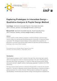 Interdisciplinary Interaction Design Pdf Pdf Exploring Prototypes In Interaction Design