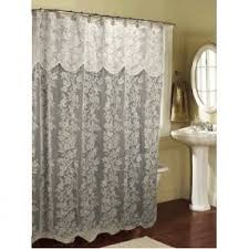 white lace shower curtain. Valance Lace Shower Curtain White R