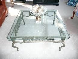 glass wrought iron coffee table best how to paint wrought iron coffee table modern table design