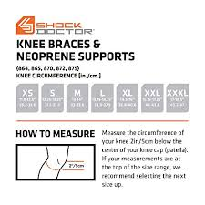 Shock Measurement Chart Shock Doctor Ultra Knee Support With Bilateral Hinges