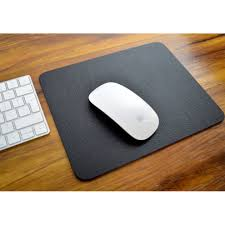 executive black bonded leather mouse mat pad 25x20cm easy wipe clean made in uk on on