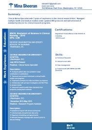 sample clinical nurse specialist resume clinical nurse specialist resume sample by rnresumesamples on deviantart