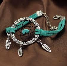 Dream Catcher Charm Bracelet Simple Vintage Enchanted Forest Mini Dreamcatcher Bracelet Handmade Dream