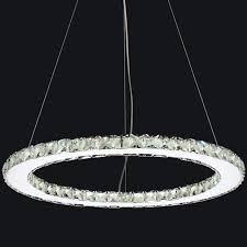 camilla 6 arm chandelier outdoor winsome crystal ring chandelier 2 0001732 24 anelli modern round single polished chrome led