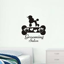 lovely dogs bone vinyl wall stickers removable wall decal pet dog art wall decals grooming salon on artistic wall decal with lovely dogs bone vinyl wall stickers removable wall decal pet dog