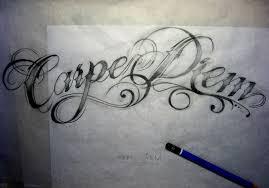 arm carpe diem tattoo