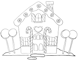 Printable Gingerbread House Coloring Page 49 For Free Coloring ...