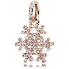 pandora rosesparkling snowflake pendant 380354cz