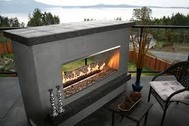 outdoor fireplace 2 sided modern double sided outdoor fireplaces google search