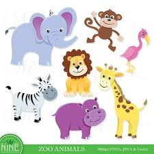 zoo animals clipart. Modren Zoo Image 0 And Zoo Animals Clipart Etsy