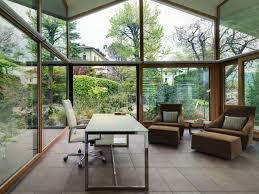 home office glass walls villa on lake como by studio marco piva