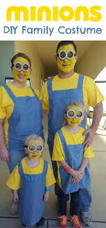 diy minions family costume